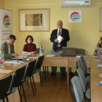 Konferencia az MSzOSz Debreceni székházában