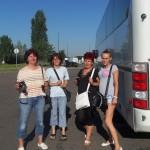 A lányoknak nem akaródzott felszállni a buszra